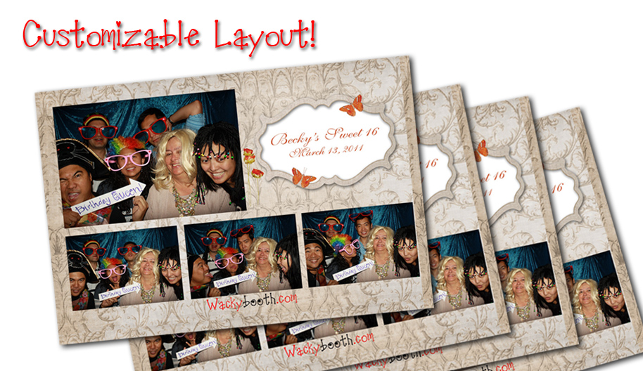 Custom Layout | Fun Wacky Photo Booth | Photo Booth Rental/Wedding ...
