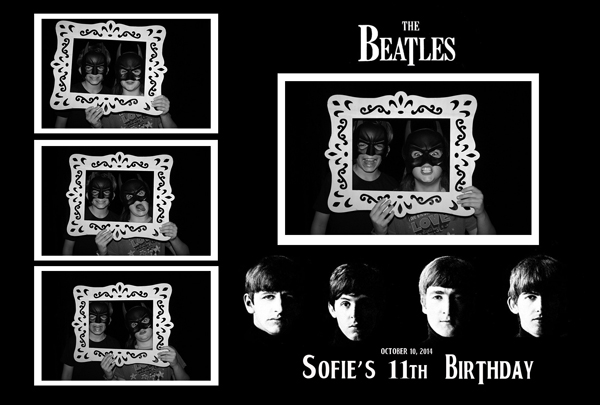 custom beatles prints palo alto photo booth rental