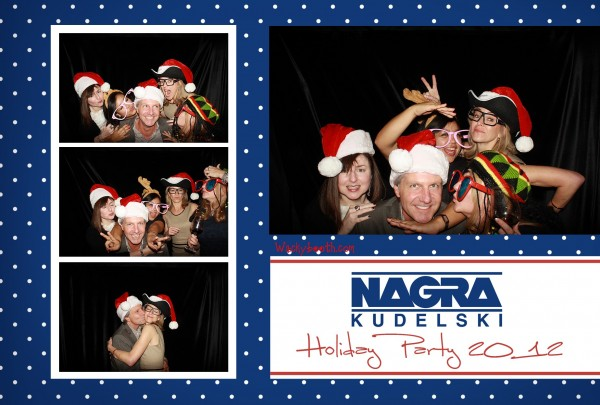 employees enjoying the photo booth rental from wacky booth