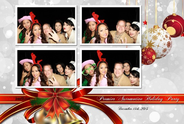 employees christmas party enjoying the photo booth