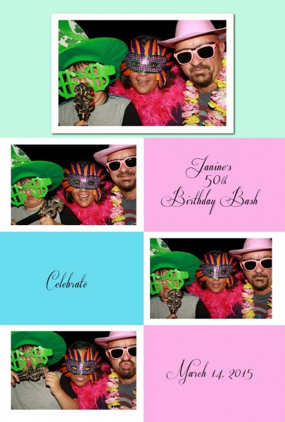 birthday celebration photo booth fun