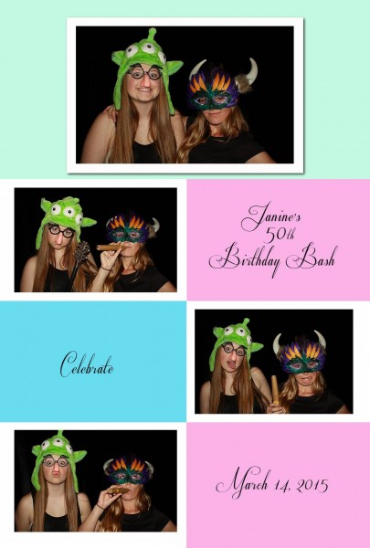 surprise 50th birthday celebration photo booth rental
