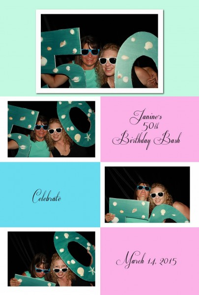 client enjoying photo booth rental on her 50th celebration