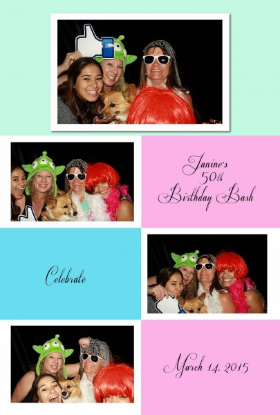 cool photo booth props with clients
