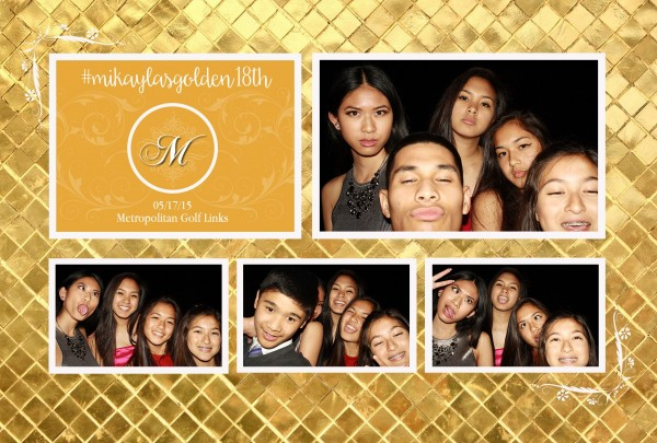 18th Birthday Party Photo Booth Photos in Oakland California