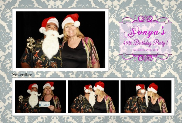 photobooth rental for 40th birthday party