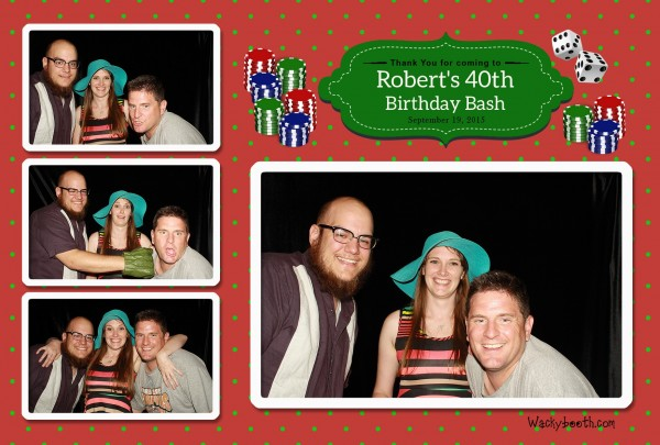 40th Surprise Birthday party with photobooth rental