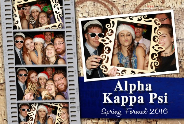Alpha Kappa Psi Photo booth Spring Formal
