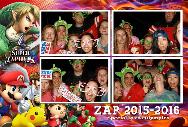 ZAp Olympics photo booth event rental