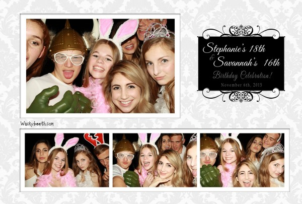 18th and 16th birthday party photo booth rental