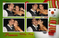 Holiday photo booth template