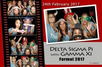 Sorority Formal photo booth print layout design