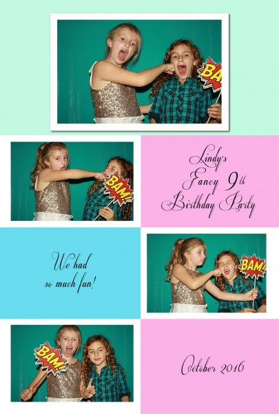 Menlo Park photobooth photos and custom layout ideas