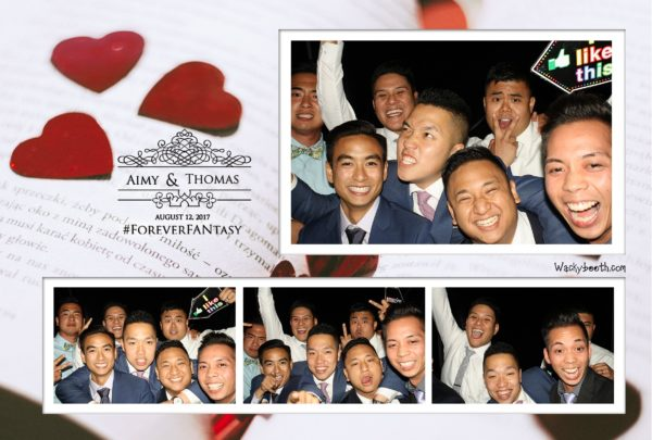 photobooth rental for your wedding by wackybooth