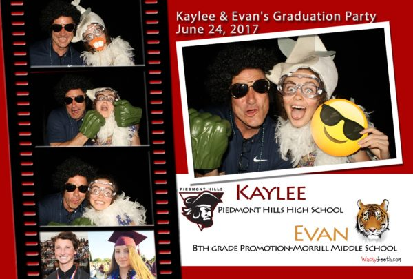 photobooth rental for 8th grade promotion, high school and college graduation photo booth