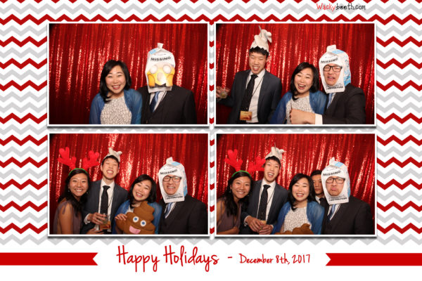 Employee holiday celebration at Fox Theater Redwood City with Wacky Booth Photo Booth rental