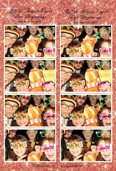 Sample layout of New Year's eve photo booth rental San Jose