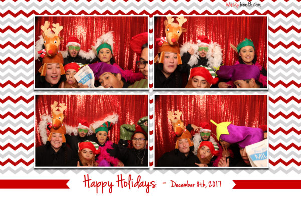Holiday Party Photo Booth Photos in Redwood City Fox Theater