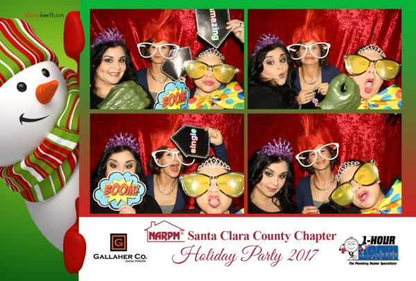 san jose holiday party photo booth rental