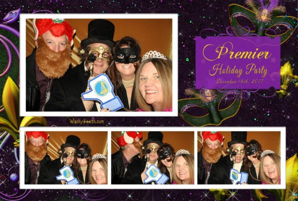 custom template Masquerade Ball photo booth
