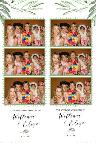 photobooth wedding photos in Santa Cruz Mountain