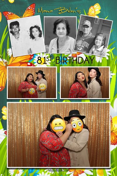 80th birthday party ideas photobooth rental in san jose california