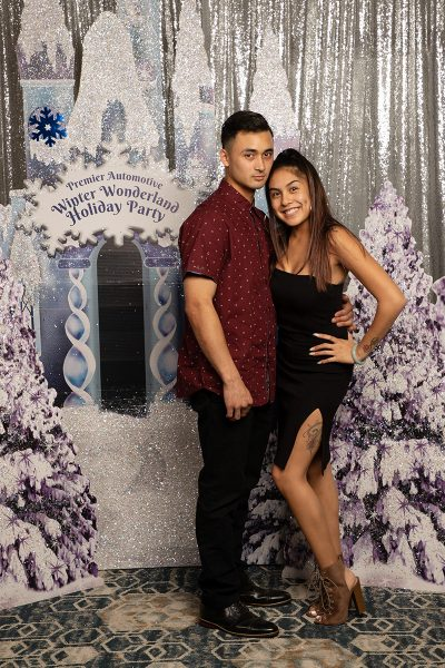 custom backdrop for photo booth rental in San Jose California