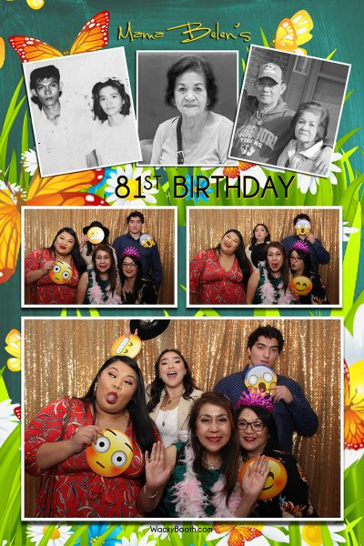 treat your guests in our custom photo booth rental in San Jose  WackyBooth
