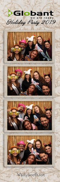 Downtown San Francisco photo booth rental with guests