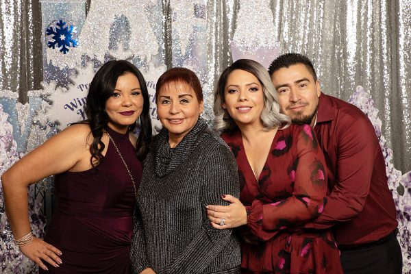 Christmas party unlimited prints for custom photobooth rental